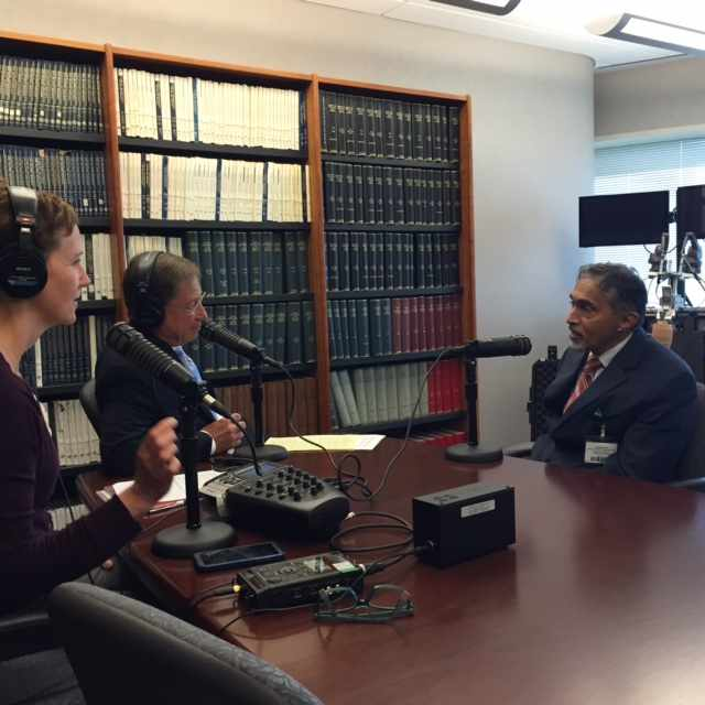 Dr. Suresh Kotagal being interviewed on Mayo Clinic Radio