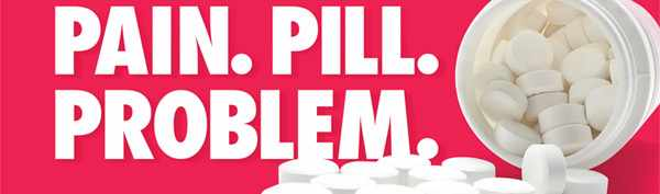 pain. pill. problem. logo for moving forward conference