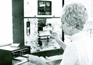 Throwback Thursday photo - 1971 Hematology Lab
