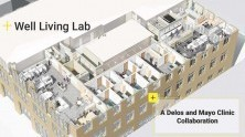Birds' eye view of Delos-Mayo Clinic Well Living Lab