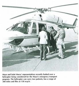 1984 helicopter, newspaper picture