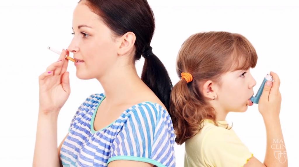 Smoking kid asthma screen grab
