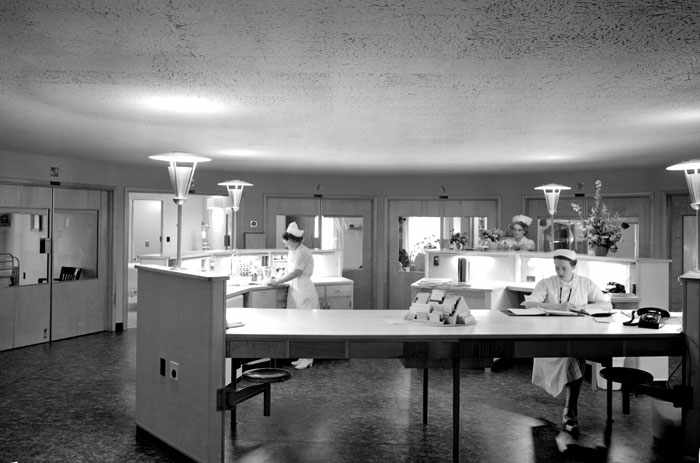 circle nurses unit in hospital 1957