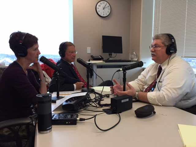 Dr. Donald Jenkins being interviewed on Mayo Clinic Radio