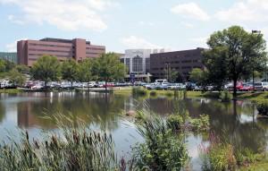 Fotografía del campus de Guthrie en Sayre, Pensilvania