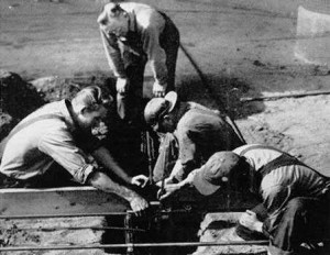 Ambulance Drive with heat coils being installed, 1951 Throwback Thursday