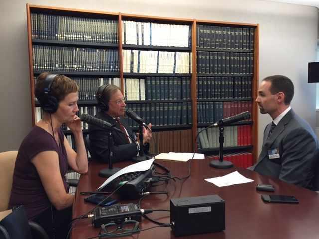 Dr. Jason Eldridge being interviewed on Mayo Clinic Radio