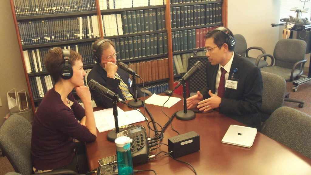 Dr. John Weroha being interviewed on Mayo Clinic Radio