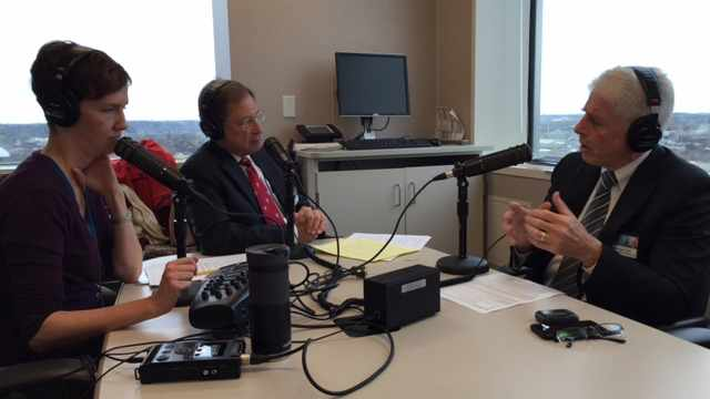 Dr. Stephen Textor being interviewed on Mayo Clinic Radio