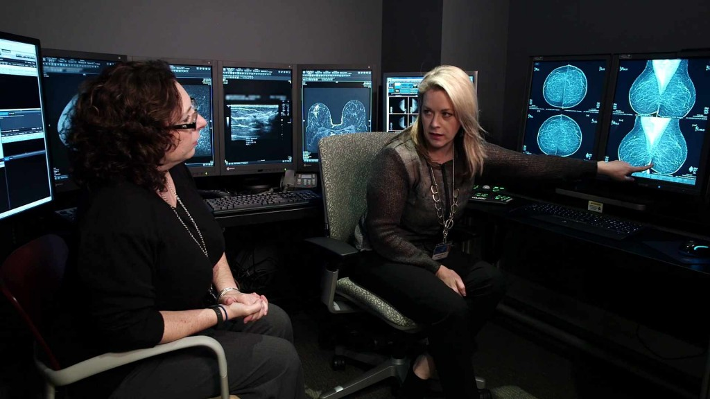 doctor speaking to patient; Jacoby Center for Breast Health; Florida