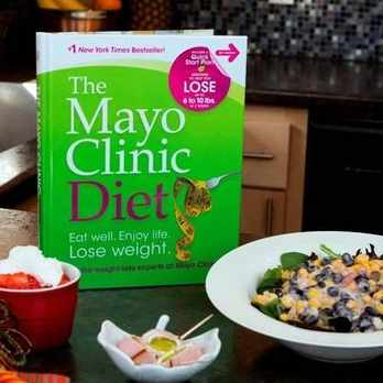 The Mayo Clinic Diet book on a table