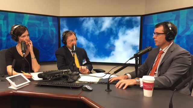 Dr. Daniel Elliott being interviewed on Mayo Clinic Radio