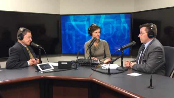 Dr. Craig Sawchuk being interviewed on Mayo Clinic Radio
