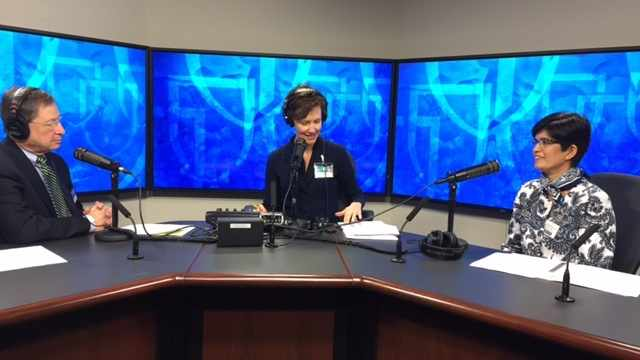 Dr. Karthik Ghosh being interviewed on Mayo Clinic Radio