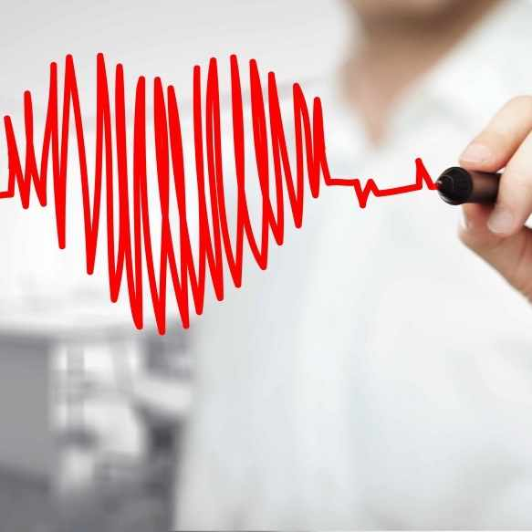 drawing of a heartbeat