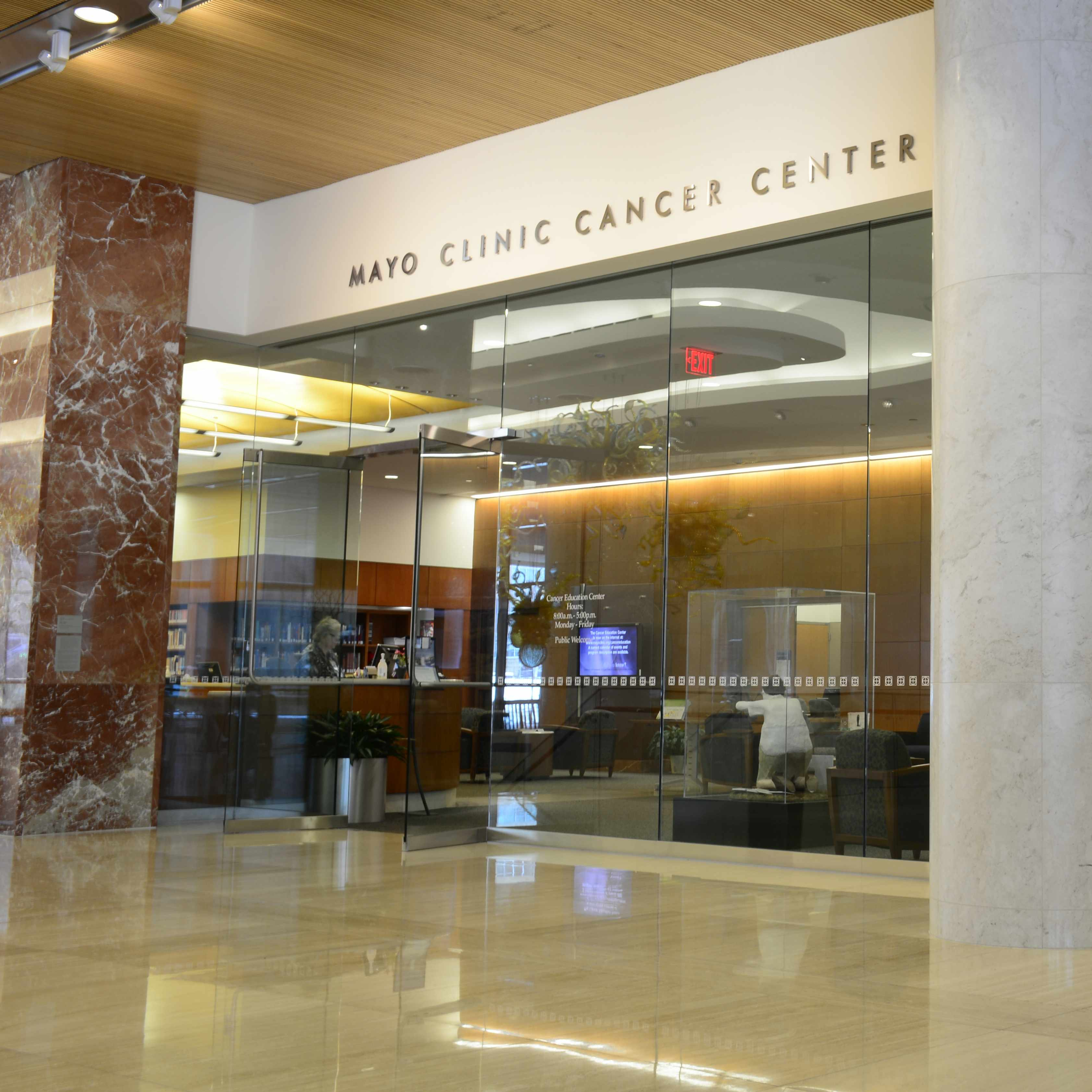 lobby picture of Mayo Clinic Cancer Center