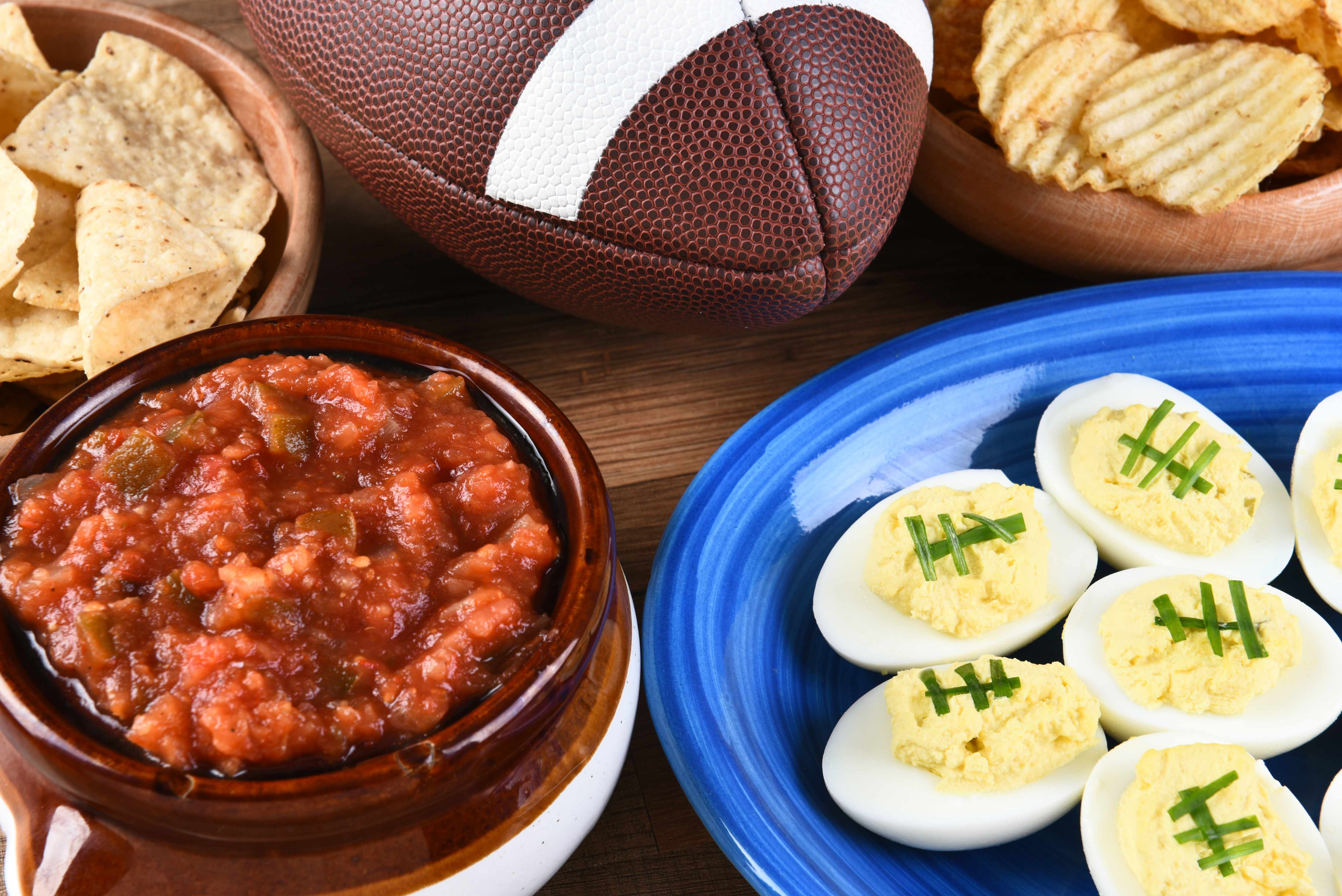 football party snacks and food
