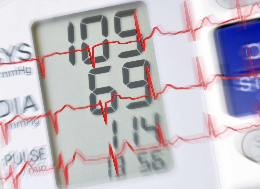blood pressure monitor with numbers