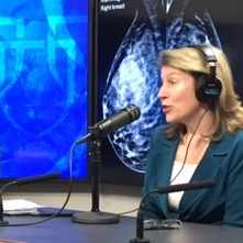 Dr. Deb Rhodes being interviewed on Mayo Clinic Radio
