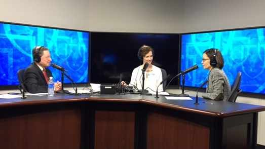 Dr. Erika Tung being interviewed on Mayo Clinic Radio