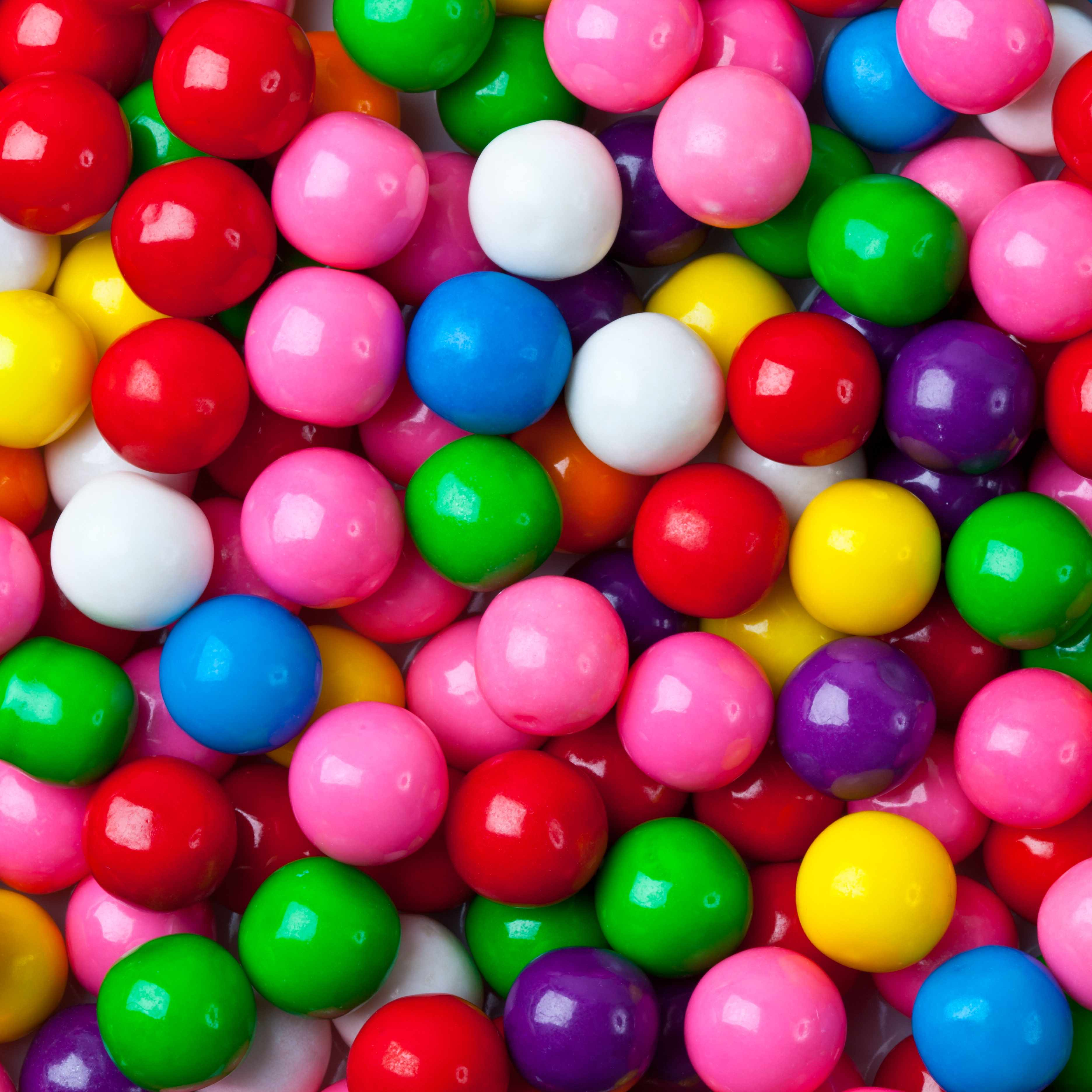 a pile of colorful gumballs