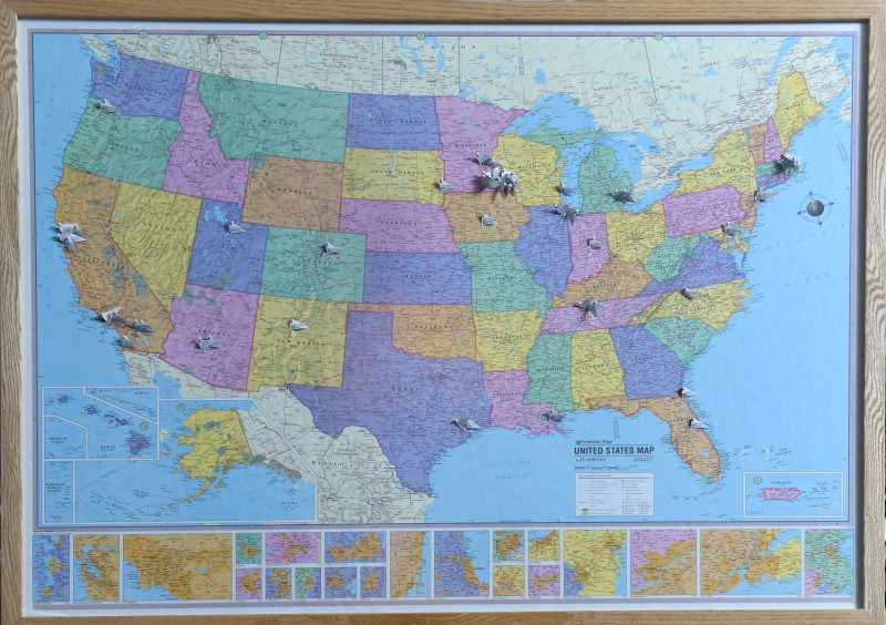 Match Day map of the Unites States