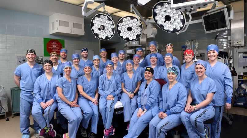Participantes en el programa para enfermeros en anestesia de la Escuela de Ciencias de la Salud de Mayo