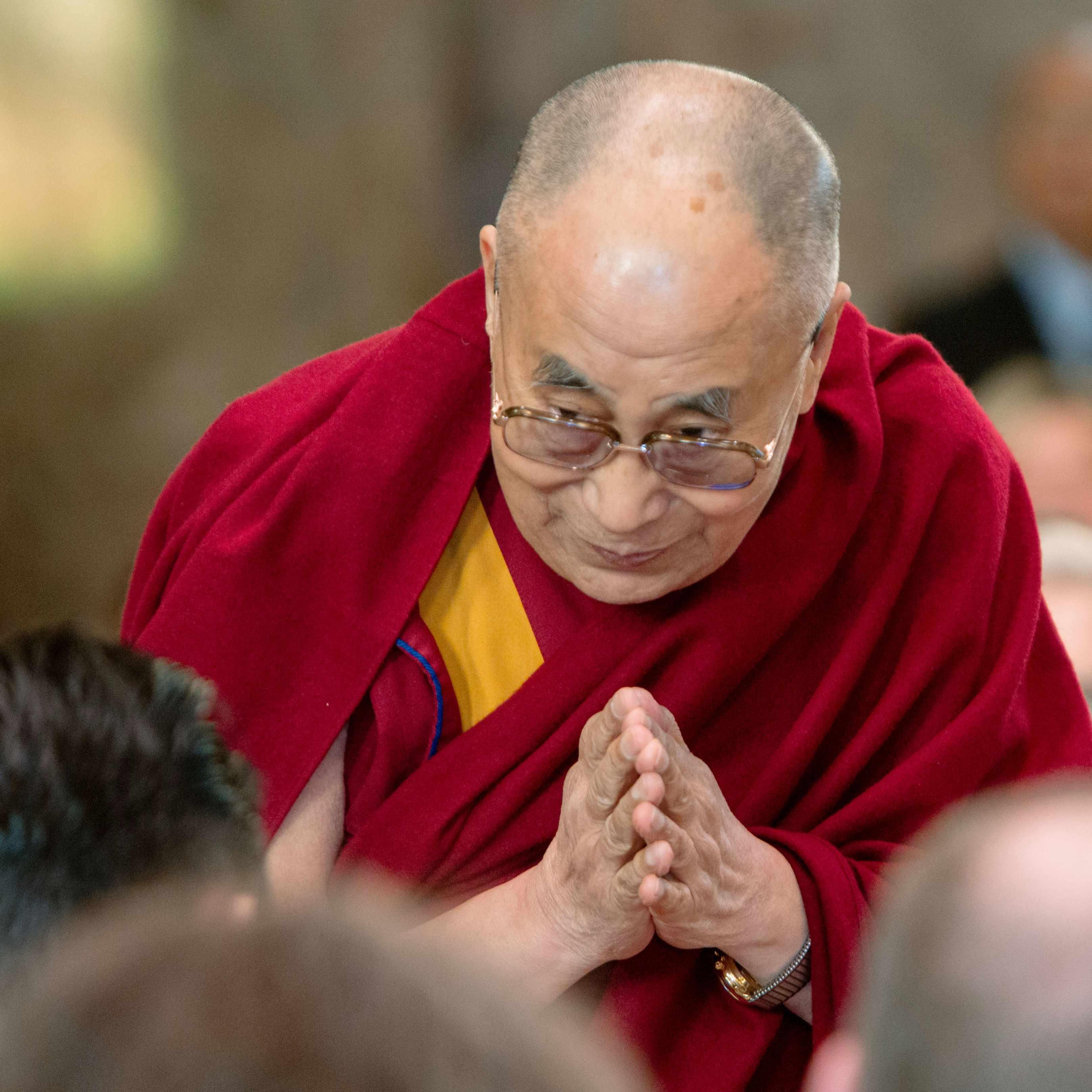 the Dalai Lama at Saint Marys Chapel