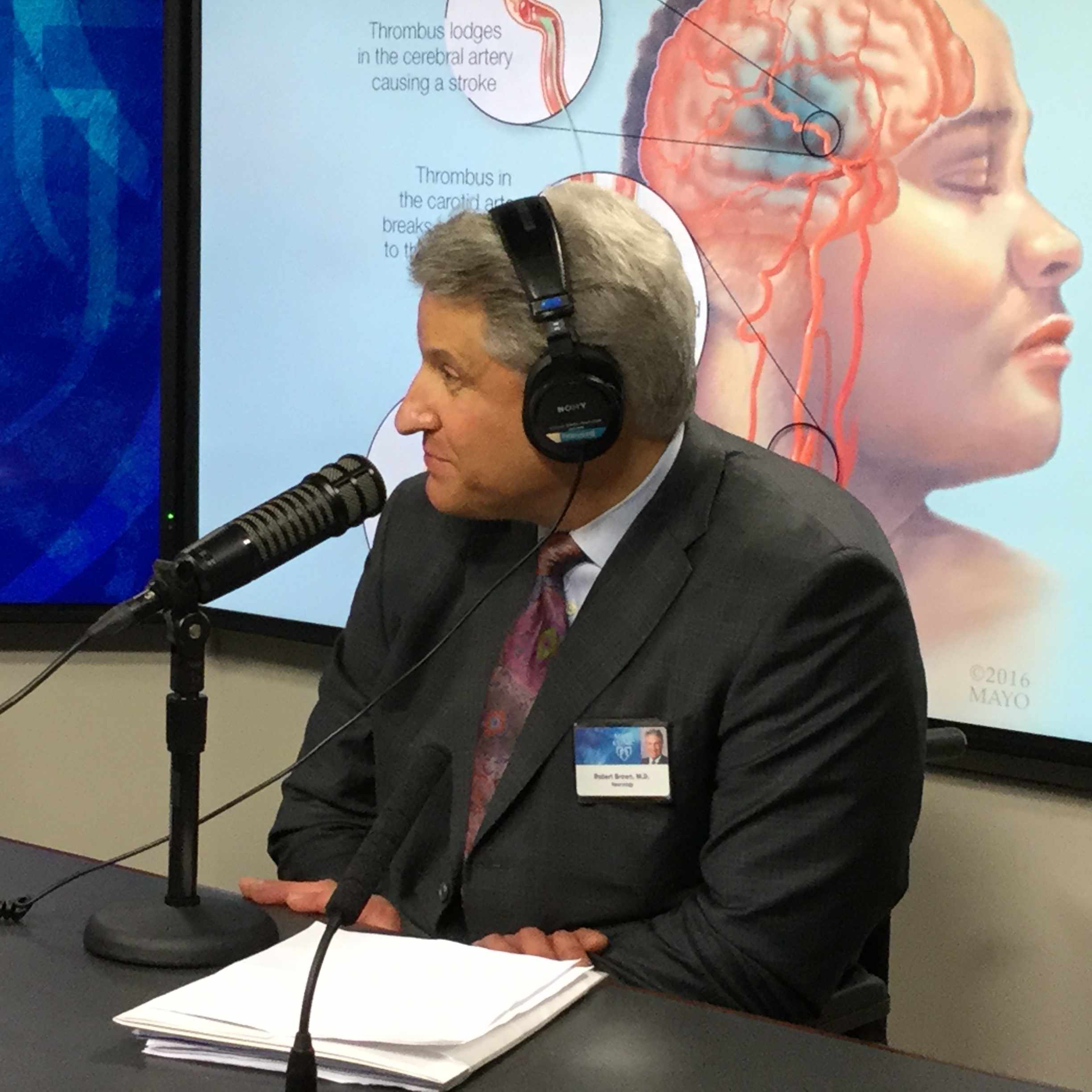 Dr. Robert Brown being interviewed on Mayo Clinic Radio