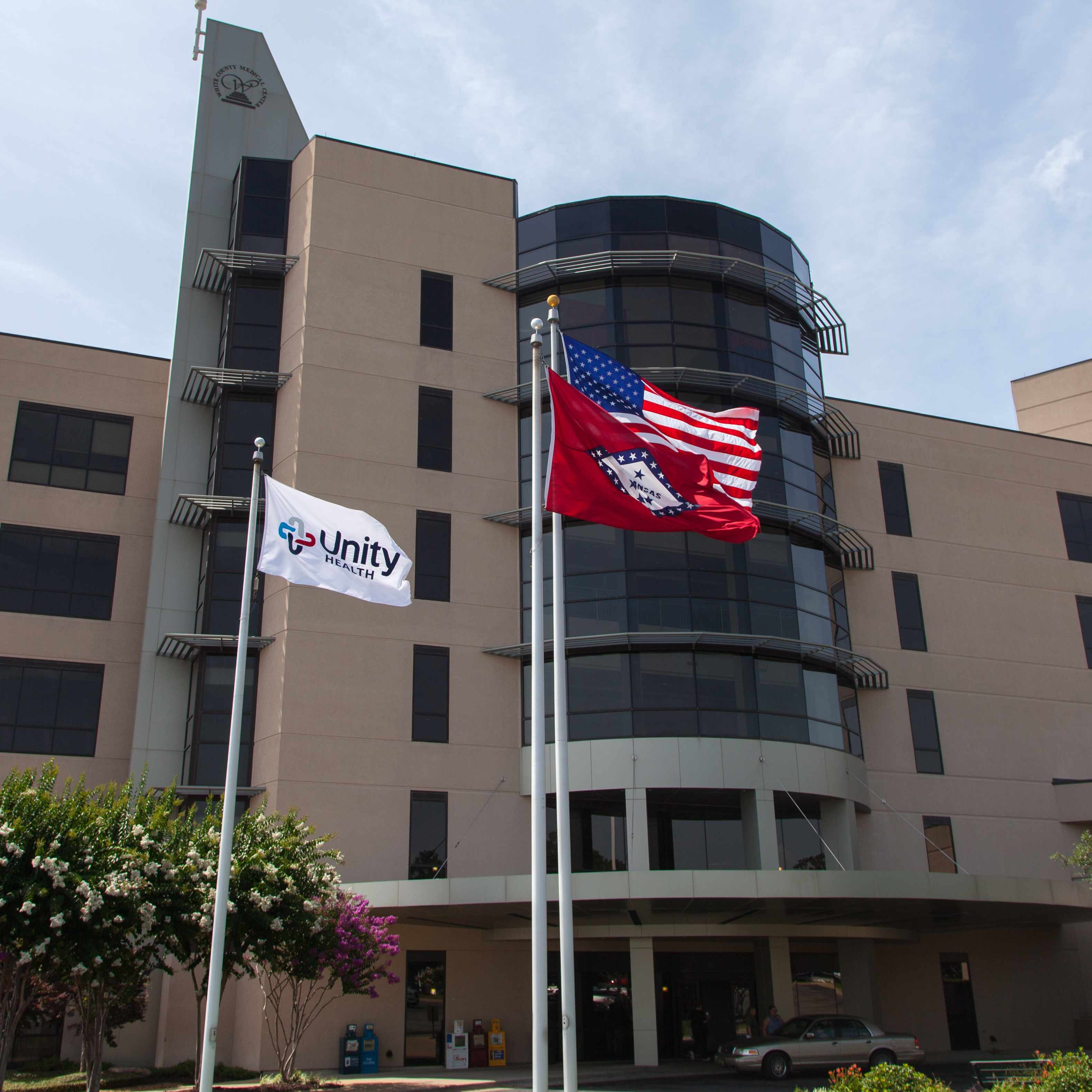 Front view of Unity Health 1x1 square