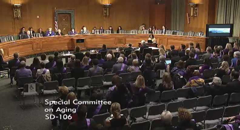 Senate Aging Committee testimony room