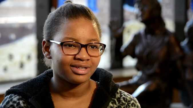 young patient Amarachi being interviewed