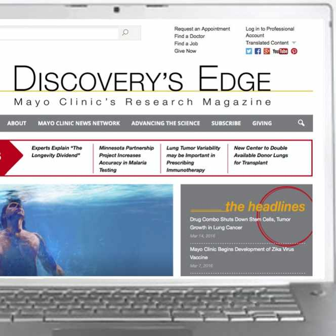 Discovery's Edge website screengrab on a laptop