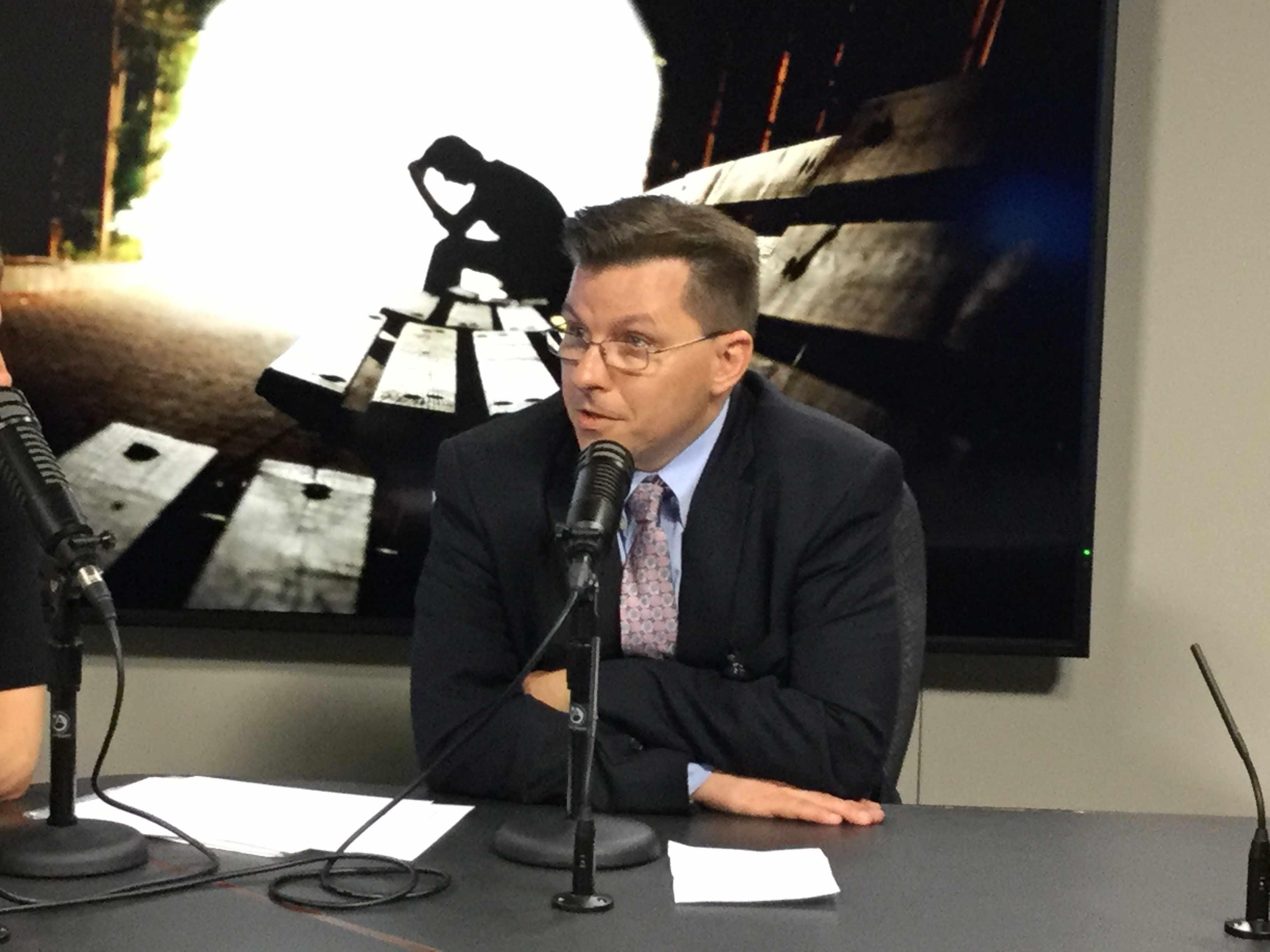 Dr. Craig Sawchuck being interviewed on Mayo Clinic Radio