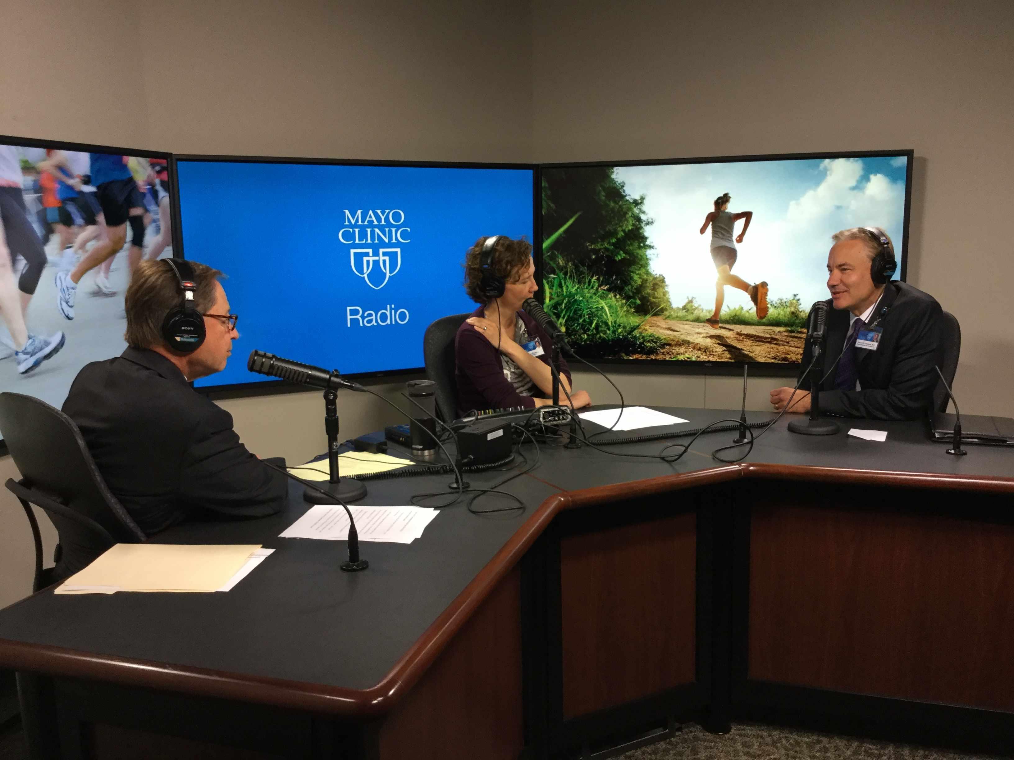 Dr. Ed Laskowski being interviewed on Mayo Clinic Radio