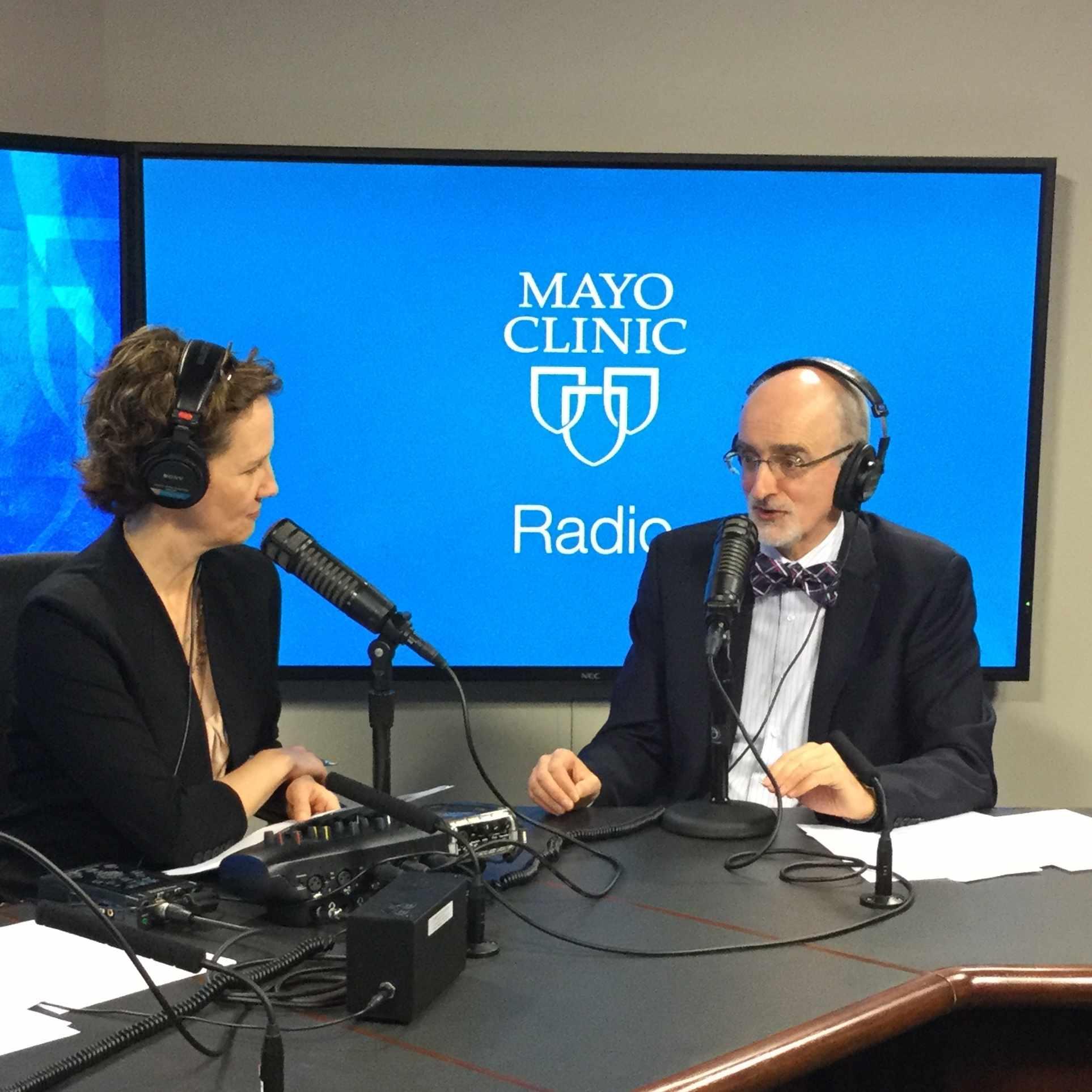 Dr. Joseph Murray being interviewed on Mayo Clinic Radio