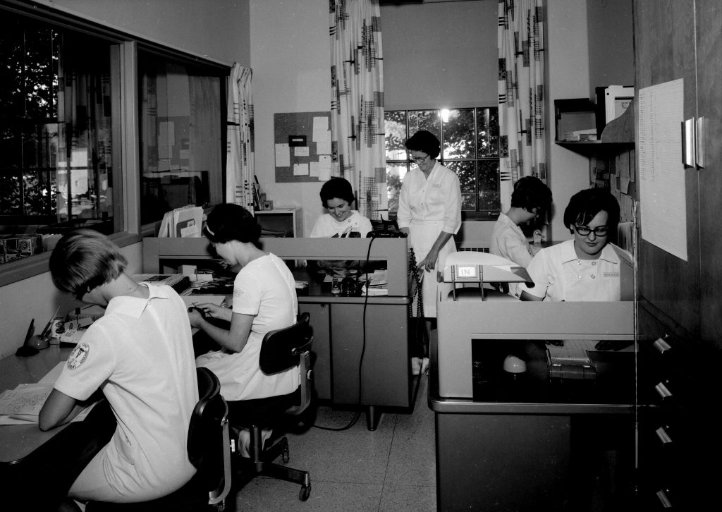 occupational therapists at work in the Occupational Therapy Department, Domitilla Building