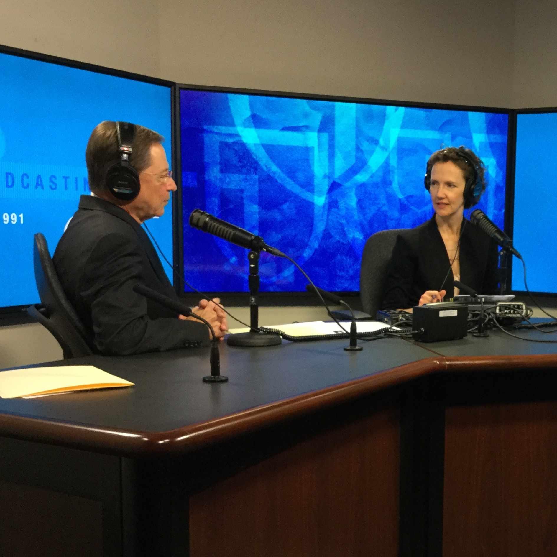 Mayo Clinic Radio hosts in studio