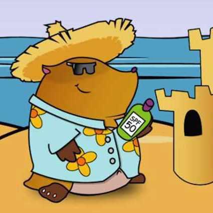 fun in the sun cartoon, melanoma, skin cancer, mole
