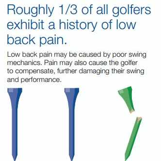 infographic image with golf tees