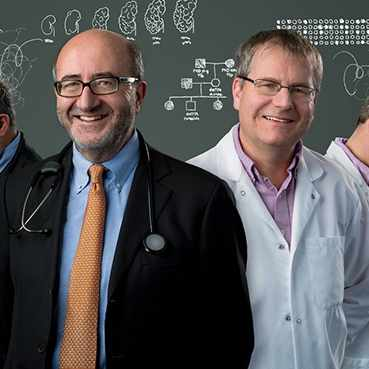 team of scientist and researchers working on medical problems, Dr. Vicente Torres and Dr. Peter Harris