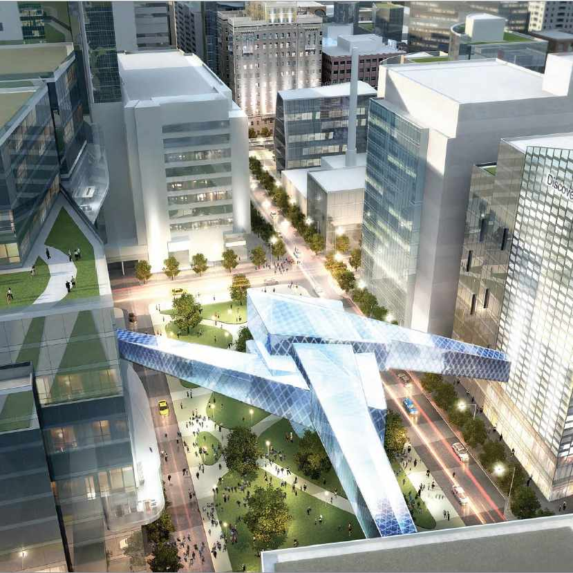 Discovery Square Aerial illustration