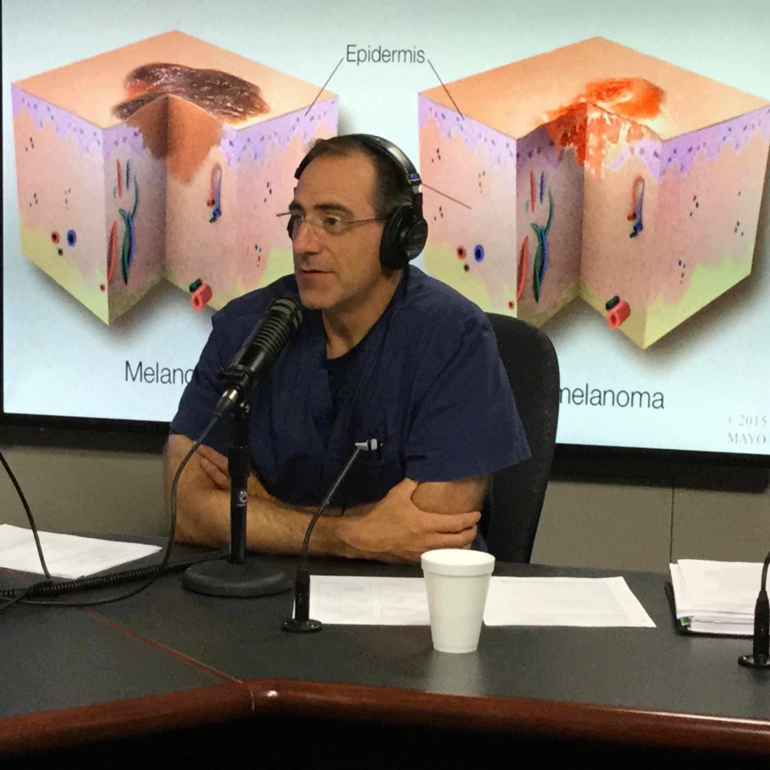Dr. Jerry Brewer being interviewed on Mayo Clinic Radio
