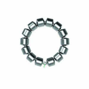 FENIX Device: a small, flexible band of interlinked titanium beads with magnetic cores in a circle