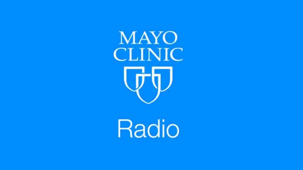 Mayo Clinic Radio logo identifier with three shields