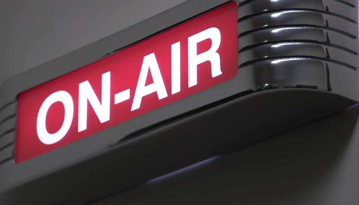 Mayo Clinic Radio studio On-Air sign