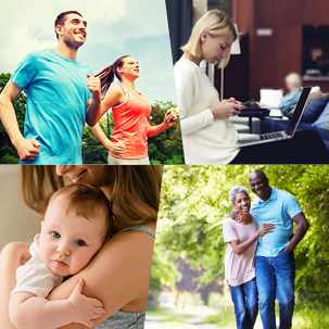 Mayo Clinic Health System graphic with patient pictures
