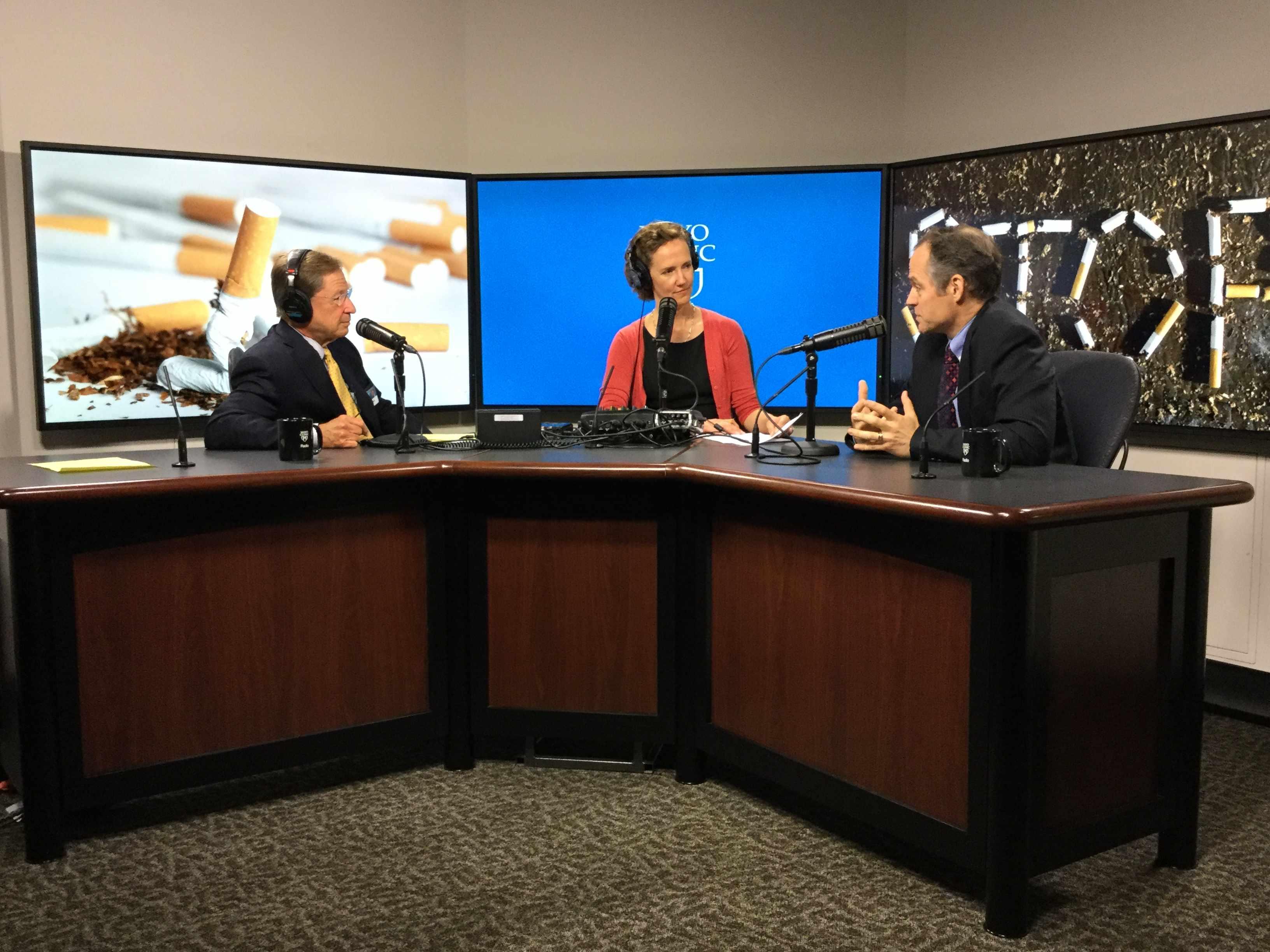 Dr. Jon Ebbert being interviewed on Mayo Clinic Radio