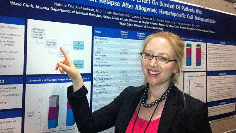 vascular patient Natalie Ertz-Archambault at medical residency chart