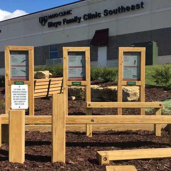 Path to Health South trail